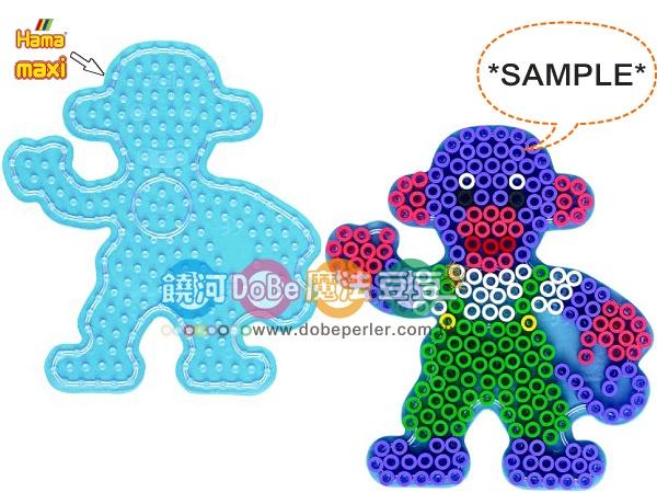 幼儿大豆豆专用模型板-透明猴子板